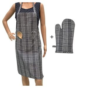 APRON WITH OVEN MITTEN 1
